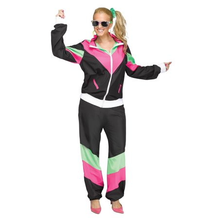 Women's 80's Track Suit Plus Size (80's Icon Costume Ideas)