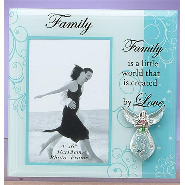 Unison Gifts HOLC-166 8 x 8 inch Blue Family Frame