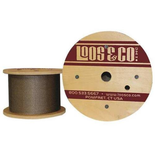 LOOS SZ18879 Cable,100 ft. L,3/16 in.,580 lb. G2415966