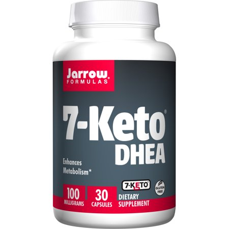 Jarrow Formulas 7-Keto DHEA, Enhances Metabolism, 100 mg, 30 Caps ()