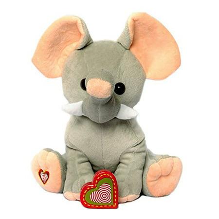 "My Baby's Heartbeat Bear - Giant Elephant Stuffed Animal w/ 20 sec Voice Recorder - Lil 8"" Elephant - image 1 of 4"