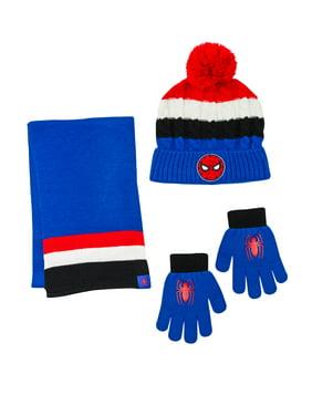 Spiderman Hat, Glove, and Scarf 3 Piece Set