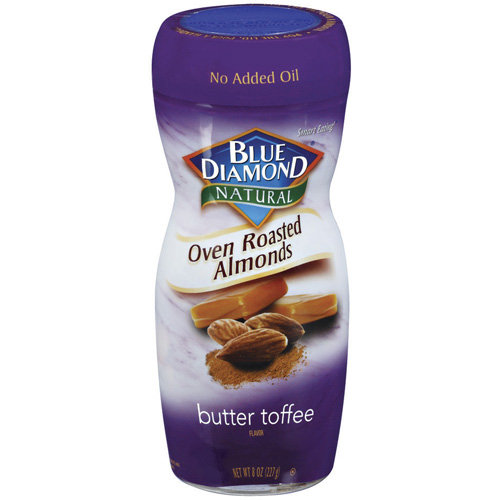 Blue Diamond Natural Oven Roasted Butter Toffee Almonds, 8 oz