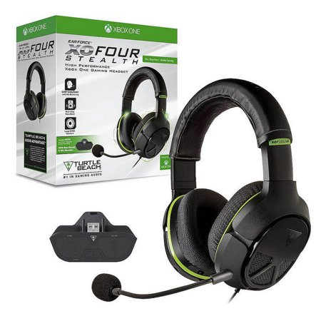 eaf50af5bef Refurbished Xbox One Turtle Beach Ear Force XO FOUR 4 Stealth Gaming  Headset - Black & Green - Walmart.com