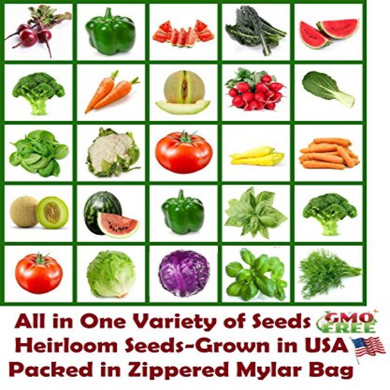 Heirloom Vegetable Seed Bank - Non GMO - Non Hybrid - ALL...