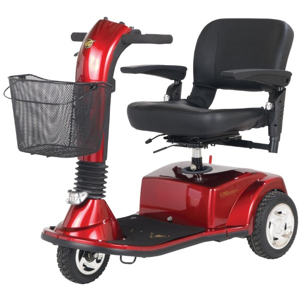 Golden Companion 3 Wheel Scooter Weight Capacity 300lbs-Red