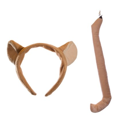 Wildlife Tree Plush Mountain Lion / Cougar Ears Headband and Tail Set for Cougar Costume, Cosplay or Safari Party Costumes](Lion Ears And Tail)