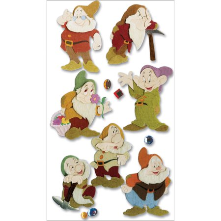 Disney Princess Movie Dimensional Stickers, Snow White and The Seven Dwarves
