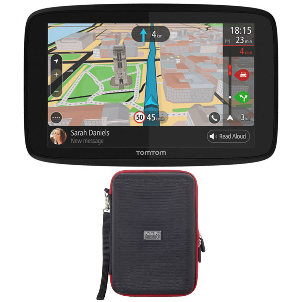 "TomTom GO 620 GPS 6"" Touch Screen (US-CAN-MEX) with Hardshell Case"