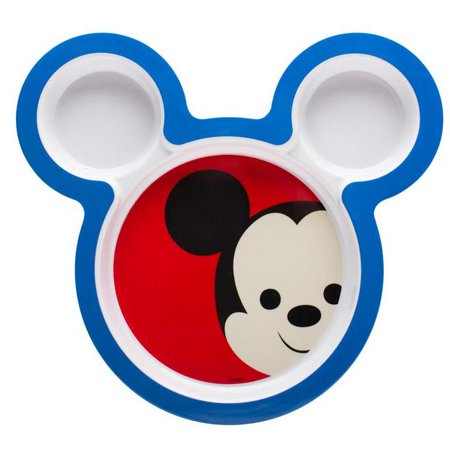 2 Piece Mickey Mouse Shaped Plates; 8.5 in.