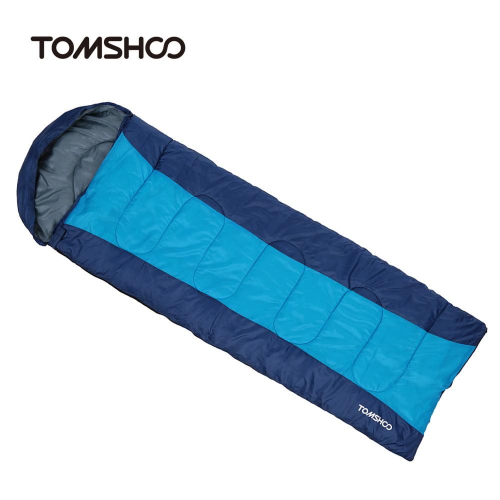 TOMSHOO Thermal Adult Outdoor Hooded Envelope Sleeping Bag Camping Travel Hiking