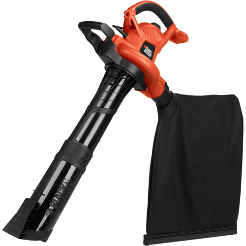 Black and Decker 12-Amp Electric Premium Blower Vacuum with Disposable Bag Kit, Orange