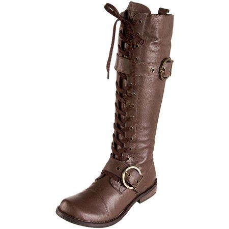21907af3581a7 Very Volatile - Very Volatile Women's Mechanic Brown Lace-Up Tall Boots -  Walmart.com