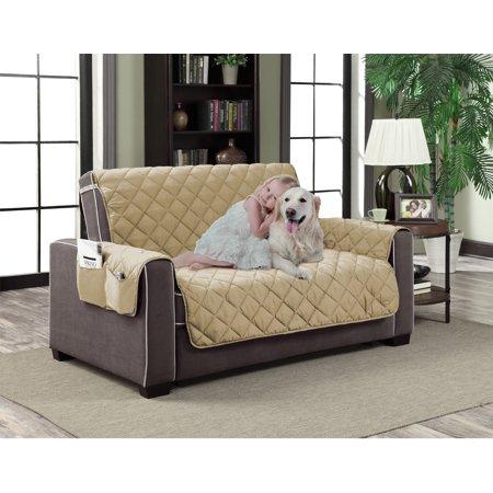 Awe Inspiring Home Dynamix Slipcovers All Season Quilted Microfiber Pet Furniture Couch Protector Cover Beige Natural 88 X 70 Love Seat Machost Co Dining Chair Design Ideas Machostcouk