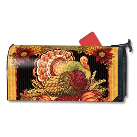 Magnet Works Thankful Turkey Magnetic Mailbox Wrap Cover