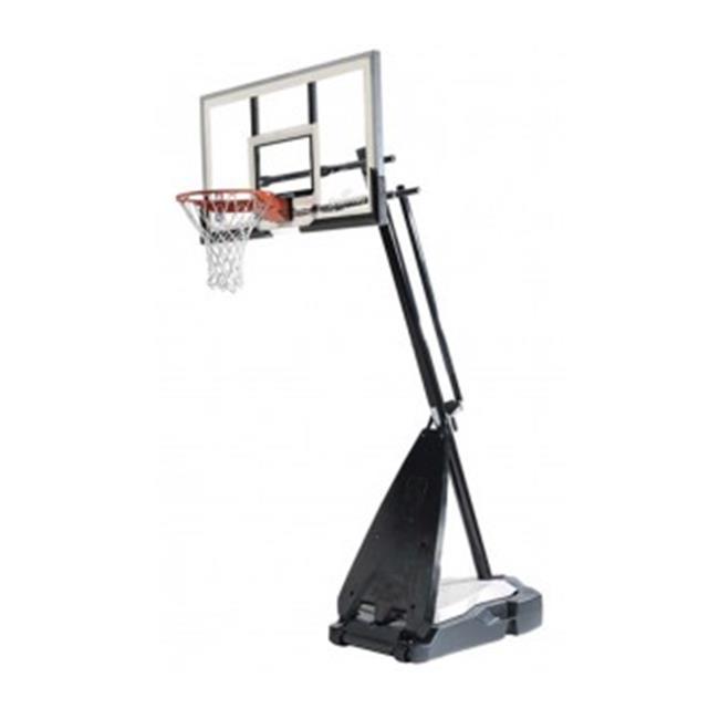 Spalding 60 in. Acrylic Portable Ultimate Hybrid Base Basketball System by Huffy Sports Company