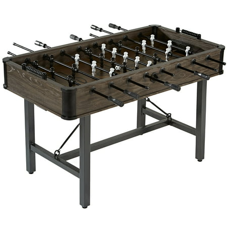 Barrington 56 Inch Chandler STEEL LEG Foosball Soccer Table, Furniture Style, wood grain, 2 soccer balls