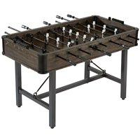 Barrington 56 Inch Chandler STEEL LEG Foosball Soccer Table, Furniture Style, wood grain, 2 soccer balls
