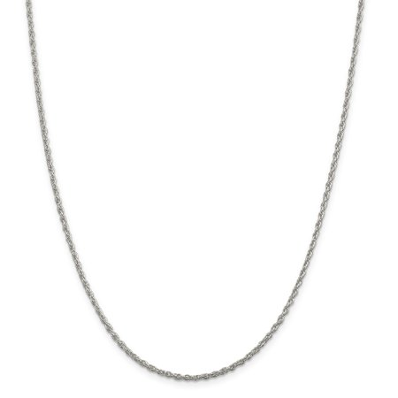 925 Sterling Silver 1.9mm Loose Rope Chain 16 Inch - image 5 de 5