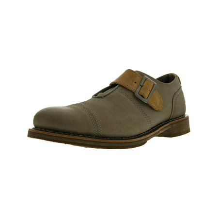 Cat Men's Halsey Leather Frost Grey Ankle-High Oxford Flat - 13M