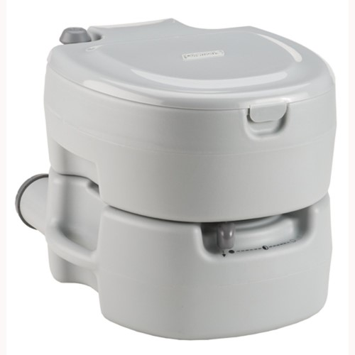 Coleman Large Portable Flush Toilet Grey 2000016503 by COLEMAN