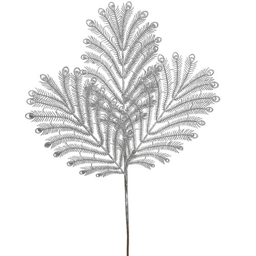 The Holiday Aisle 12 Piece Glitter Peacock Tail Branch (Set of 12)