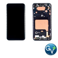 "Touch Screen Digitizer and OLED with Frame Assembly for Aurora Black LG V35 ThinQ V350 (6.0"")"