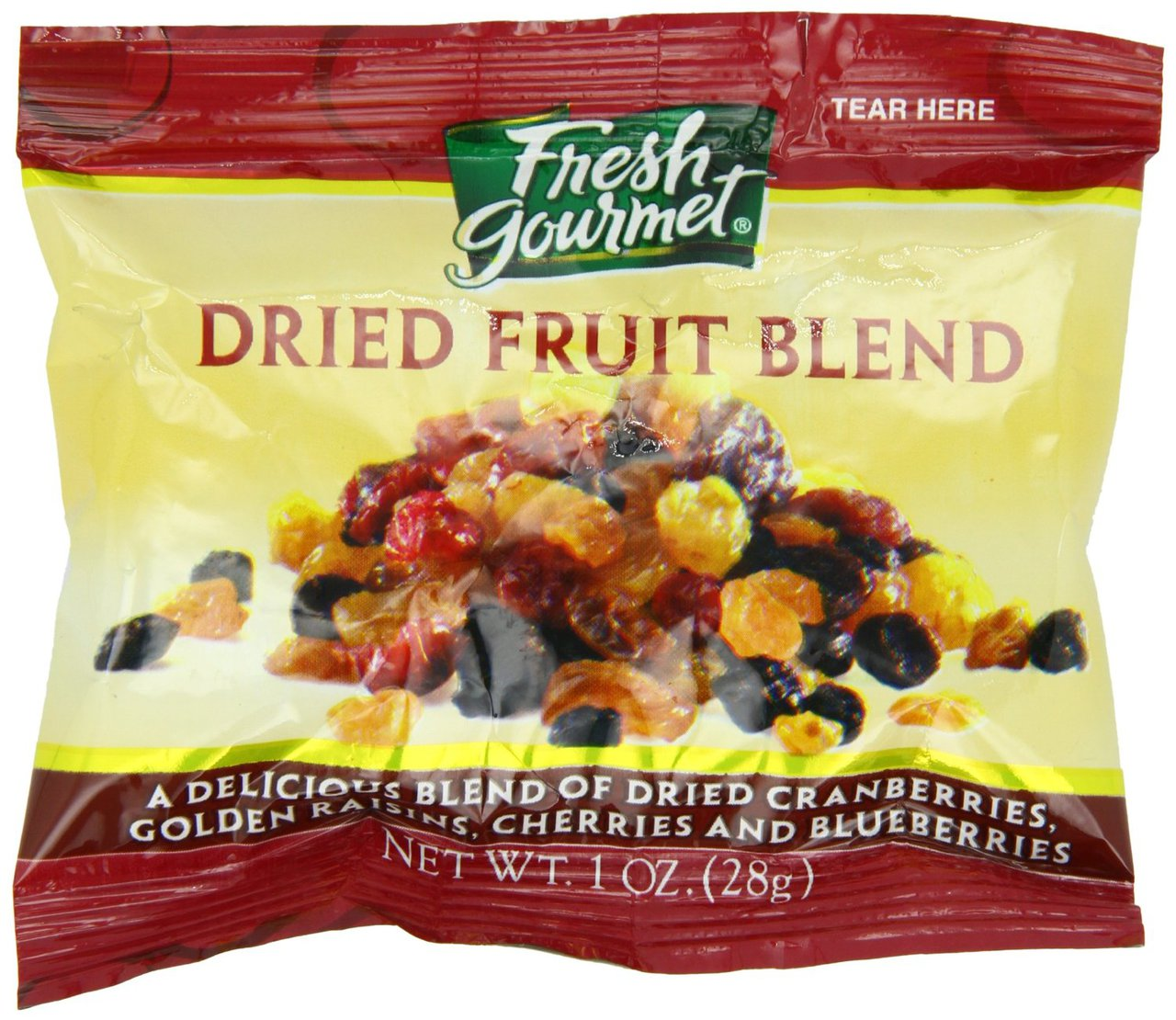 120 PACKS : Fresh Gourmet Dried Fruit Blend For Oatmeal, 120 Count by