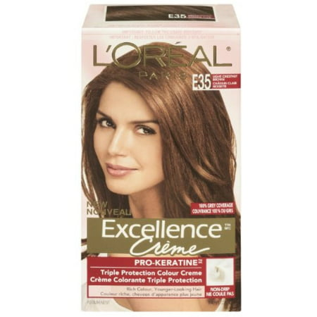 L Oreal Paris Excellence Creme Haircolor Light Chestnut Brown E35 1 Ea