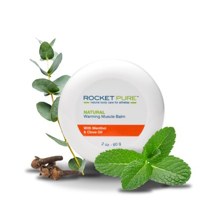 Natural Warming Muscle Balm. Relief Before or After Exercise, Soothes Pain, Tired and Sore Muscles. Natural Balm Made in the U.S. is Better Than Other Creams, Gels and Ointments.