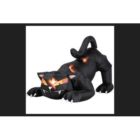 5 ft. Animated Airblown Black Cat with Turning Head (Clearance Halloween Inflatables)