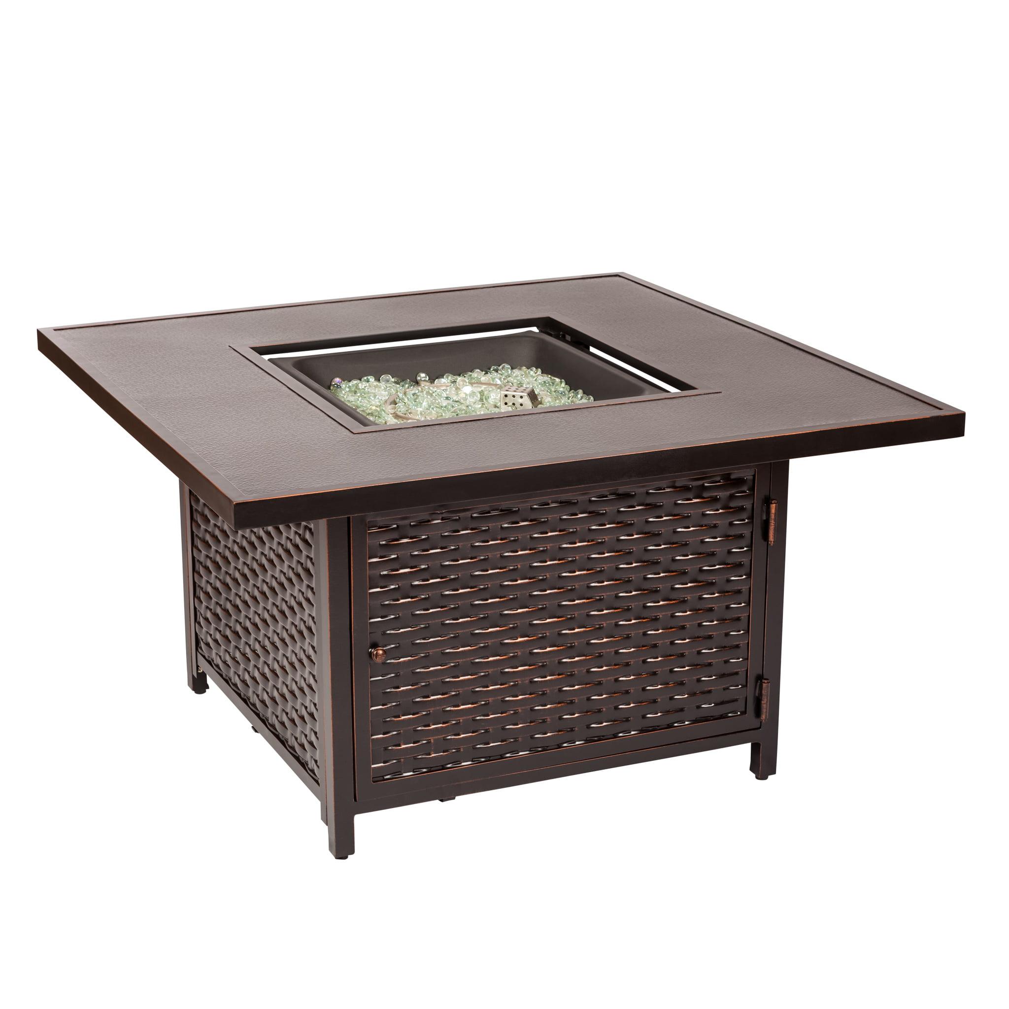 Baker Cast Aluminum LPG Firepit Table by Well Traveled Living