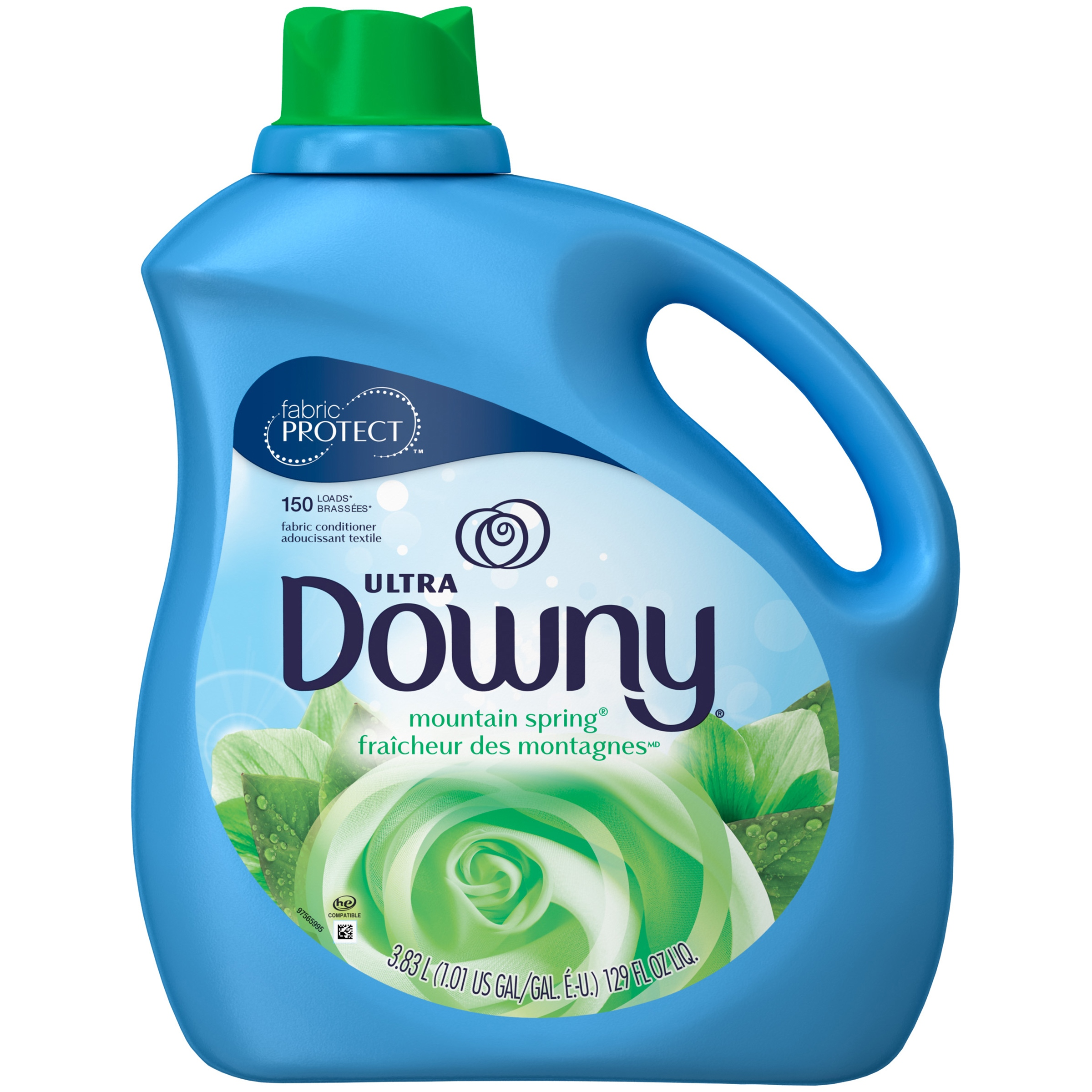 Downy Mountain Spring Liquid Fabric Conditioner (Fabric Softener), 129 FL OZ