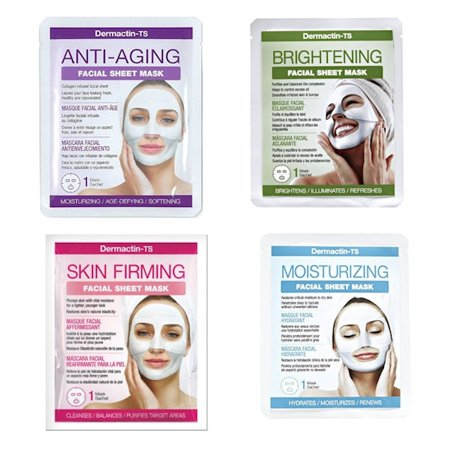 Pack of 4 Dermactin-TS Anti-aging, Brightening, Moisturizing, Skin Firming (Best Homemade Mask For Dry Skin)