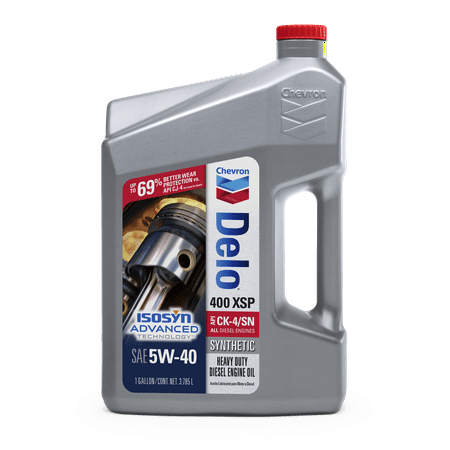 (3 Pack) Chevron Delo 400 XSP Synthetic 5W40 Motor Oil, 1