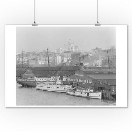 Boats at Galbraith Dock Photograph (9x12 Art Print, Wall Decor Travel Poster) ()