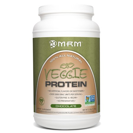 MRM All Natural Veggie Protein, Chocolate, 2.5