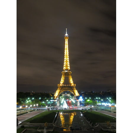 Night In Paris Theme (LAMINATED POSTER The Eiffel Tower Paris Night View France Poster Print 24 x)