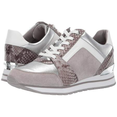 Michael Kors MK Women's Billie Trainer Suede Sneakers Shoes Pearl Grey