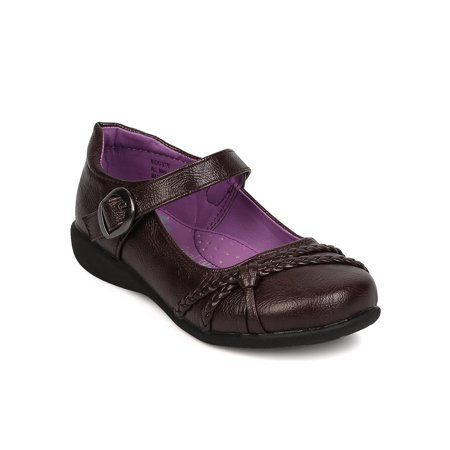 School Rider Nicki-577E New Girl Hemp Decor Mary Jane Strap School Uniform Shoes