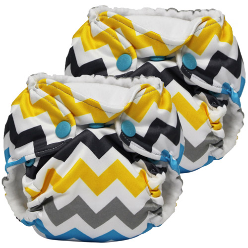 Kanga Care Lil Joey All in One Newborn Cloth Diaper, Charlie, 2 count