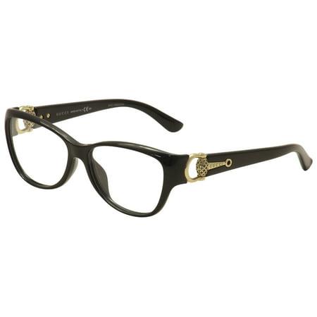 Gucci Eyeglasses Gg 3728f 3728 F D28 Blackgold Optical Frame 55mm