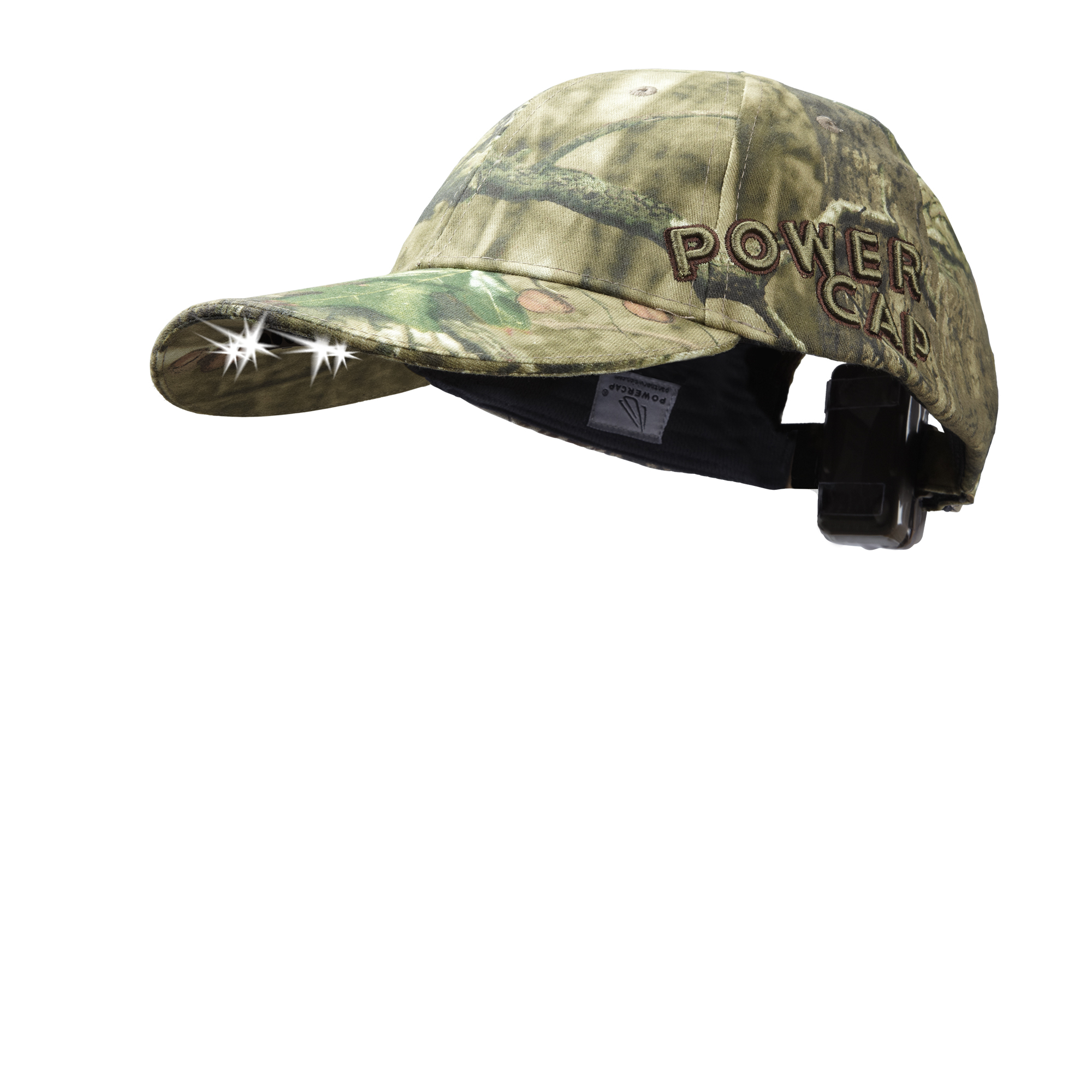 Powercap EXP100 Headlamp Hat with 6 LEDs, Mossy Oak Infinity