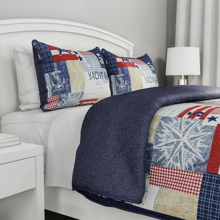 Somerset Home 3pc Patriotic Americana Quilt -