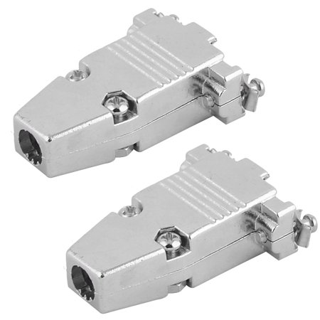 D-sub Connector Housing - 2Pcs Aluminium DB9 D-SUB 25Pin Connector Backshell Shell Cover Hood Housing