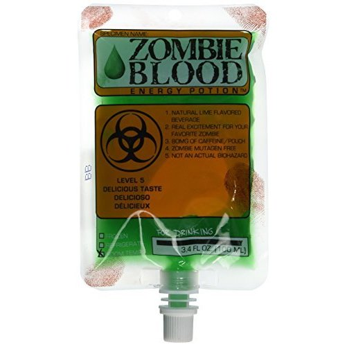 Harcos Lime Zombie Blood Energy Potion 3.4 Ounces