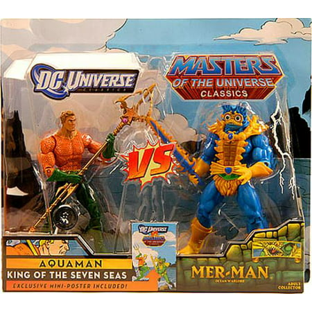DC / Masters of the Universe Club Eternia Aquaman Vs. Mer-Man Action Figures