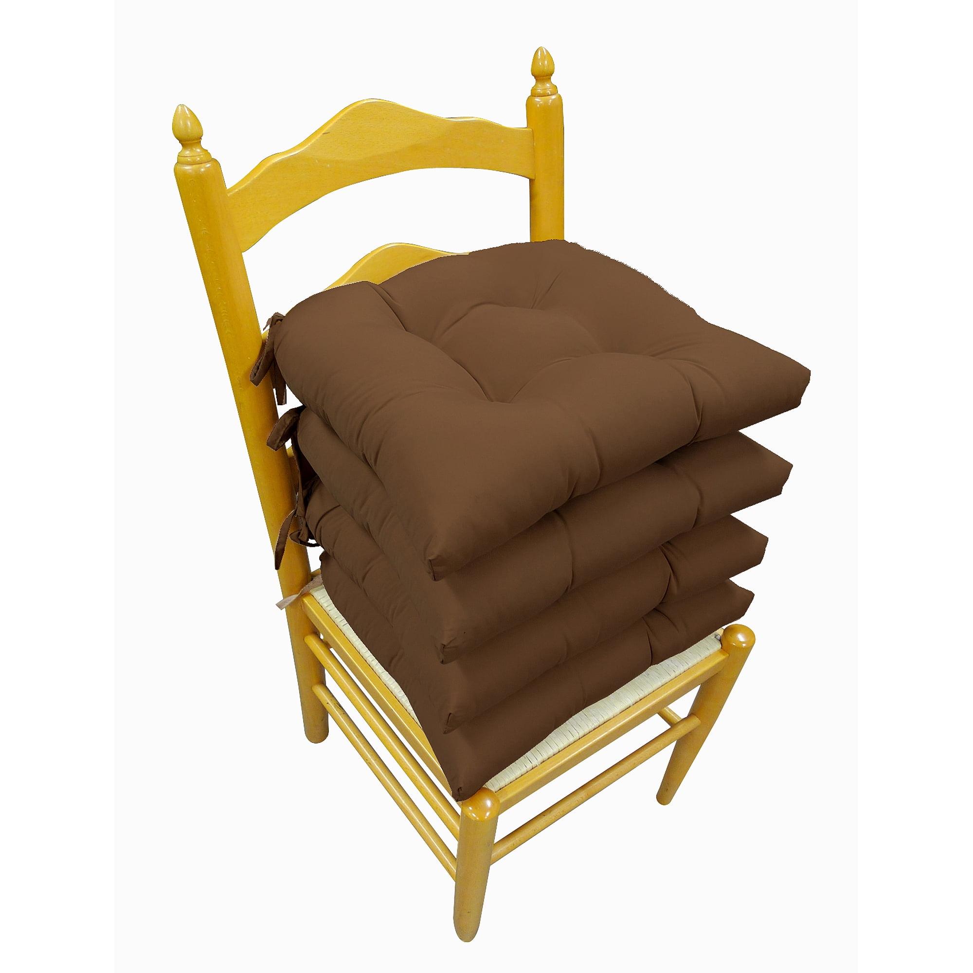 Microfiber Chair Pads, 4pk, Chocolate