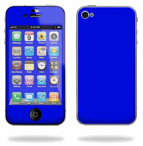 Mightyskins Apple iPhone 4 or iPhone 4S AT&T or Verizon 16GB 32GB Cell Phone wrap sticker skins Solid Blue