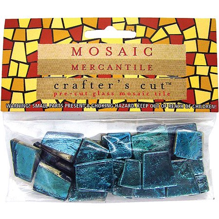 Mosaic Mercantile Crafter's Cut Gem Mosaic Tiles (Teal) (3 Units Included) (Gems Mosaic)